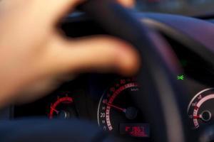 lecteur de sécurité / tableau de bord de voiture photo