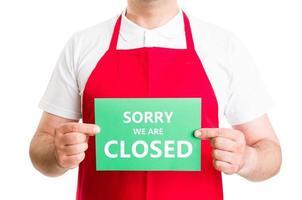 Désolé nous sommes fermés photo