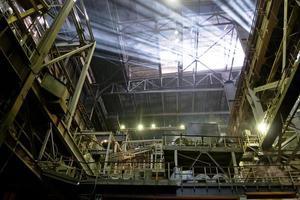 structures à l'intérieur de l'atelier