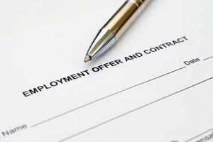 Contrat de travail photo