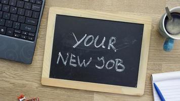 votre nouvel emploi au bureau photo