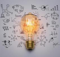 ampoule avec graphique de dessin