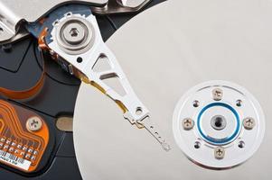 à l'intérieur du lecteur de disque de l'ordinateur photo