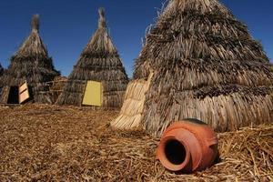 tentes indiennes de paille photo
