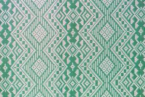 motif de soie verte thaïlandaise, style textile thaïlandais photo