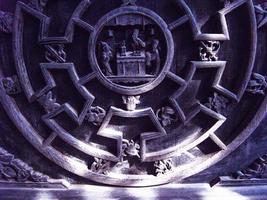 décorations de fenêtre de sculpture en bois chinois miao photo