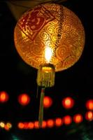 lampe rouge chinoise photo