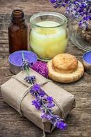 ensemble de parfums pour les soins spa photo