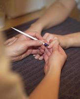 situation de vernis à ongles photo