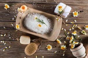 scène de spa à la camomille photo