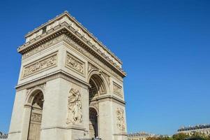 monument de l'arc de triomphe à paris france photo