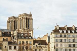 cathédrale notre-dame de paris vue depuis la seine photo