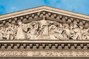 le panthéon, paris france-détail architectural
