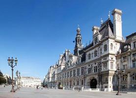 hôtel de ville de paris en france photo