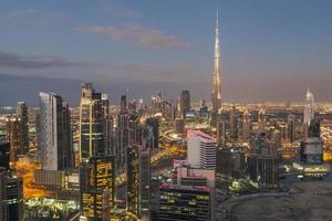 paysage urbain de Dubaï. photo