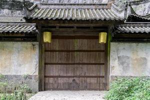 passerelle chinoise ancienne et traditionnelle. photo