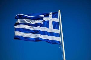 drapeau grec photo