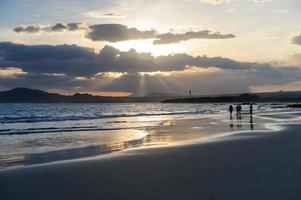galapagos. plage de l'île isabella. photo