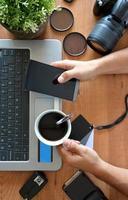 bureau avec équipement de photographie photo