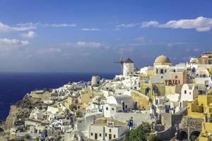 incroyable village d'Oia sur l'île de Santorin, Grèce