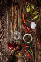 épices sur table