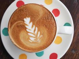 latte chaud est bon pour votre matinée photo