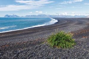 plage de sable noir, Islande photo