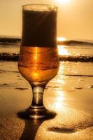 boisson dorée. photo