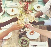 amis, fête amitié, sortir, concept photo