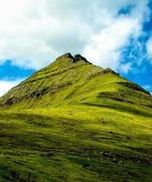 sommet de la colline, îles faroer
