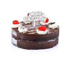 gâteau au chocolat au chocolat? isolé sur blanc