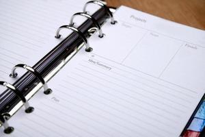 agenda ouvert photo