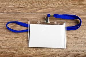 badge de carte d'identité avec cordon photo