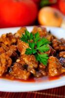 ragoût de viande de porc photo
