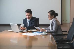 dirigeants d'entreprise au travail photo