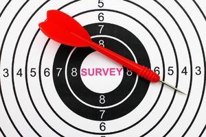cible du sondage en ligne photo