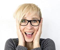 femme joyeuse photo