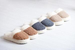 pantoufles en laine naturelle photo