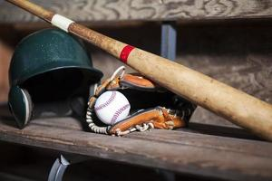 équipement de baseball nature morte photo