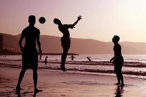 football de plage photo