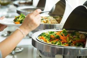 nourriture sous forme de buffet photo