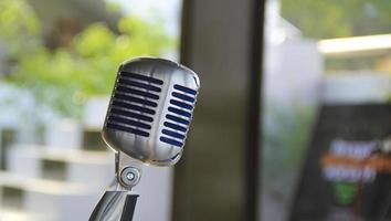 microphone. photo
