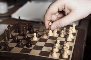 déplacer le joueur de pièce d'échecs photo