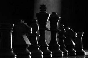 pièces d'échecs blanches photo