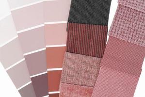 sélection de couleurs de tapisserie d'ameublement pour l'intérieur