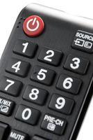 détail d'une télécommande isolé sur fond blanc photo