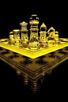 jeu d'échecs en verre photo