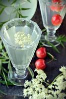 boisson aux fleurs de sureau photo