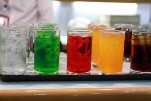 boisson gazeuse de couleur photo