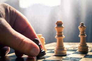 échecs en bois photo